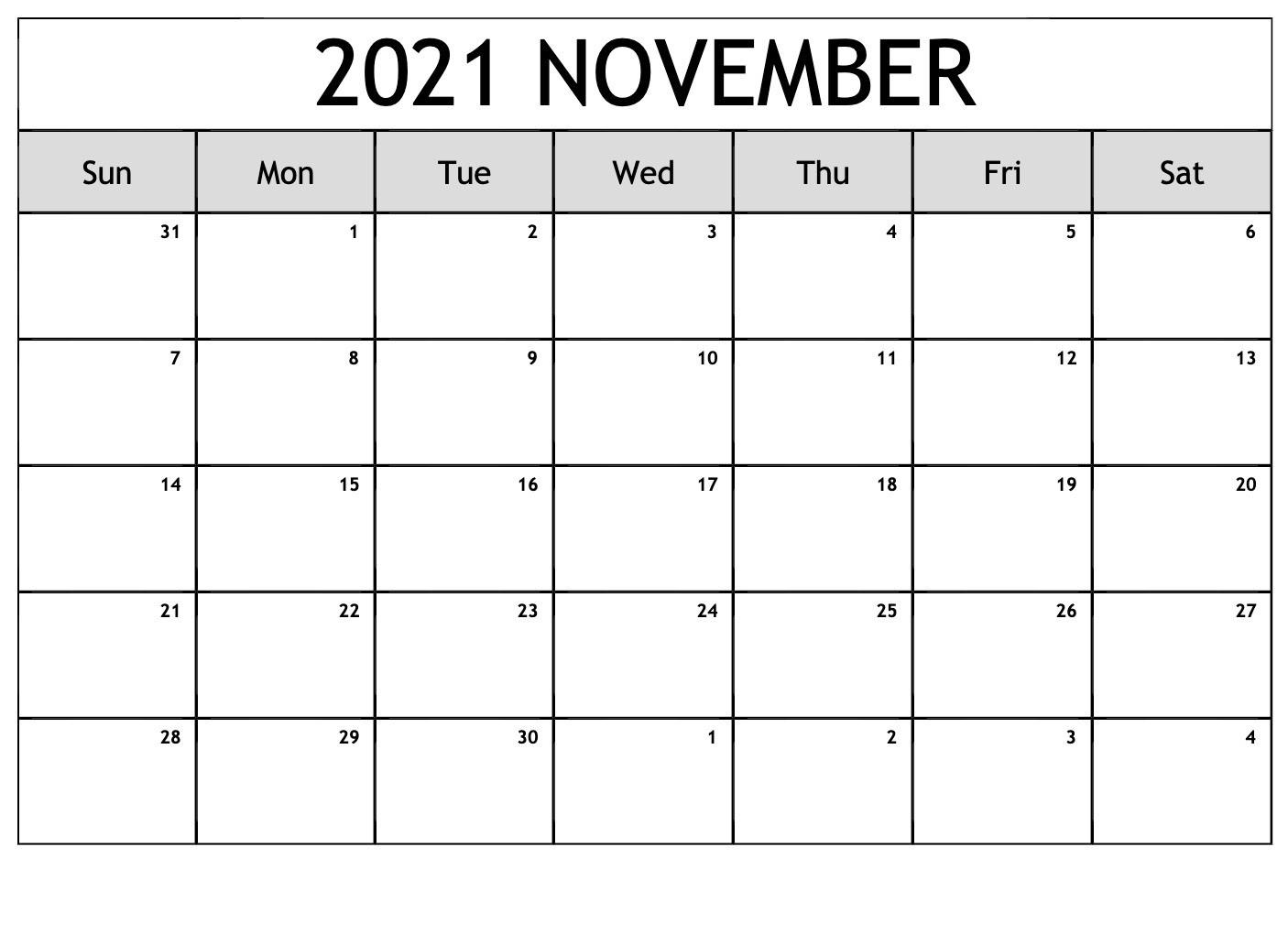 November 2021 Calendar   Best Calendar Example