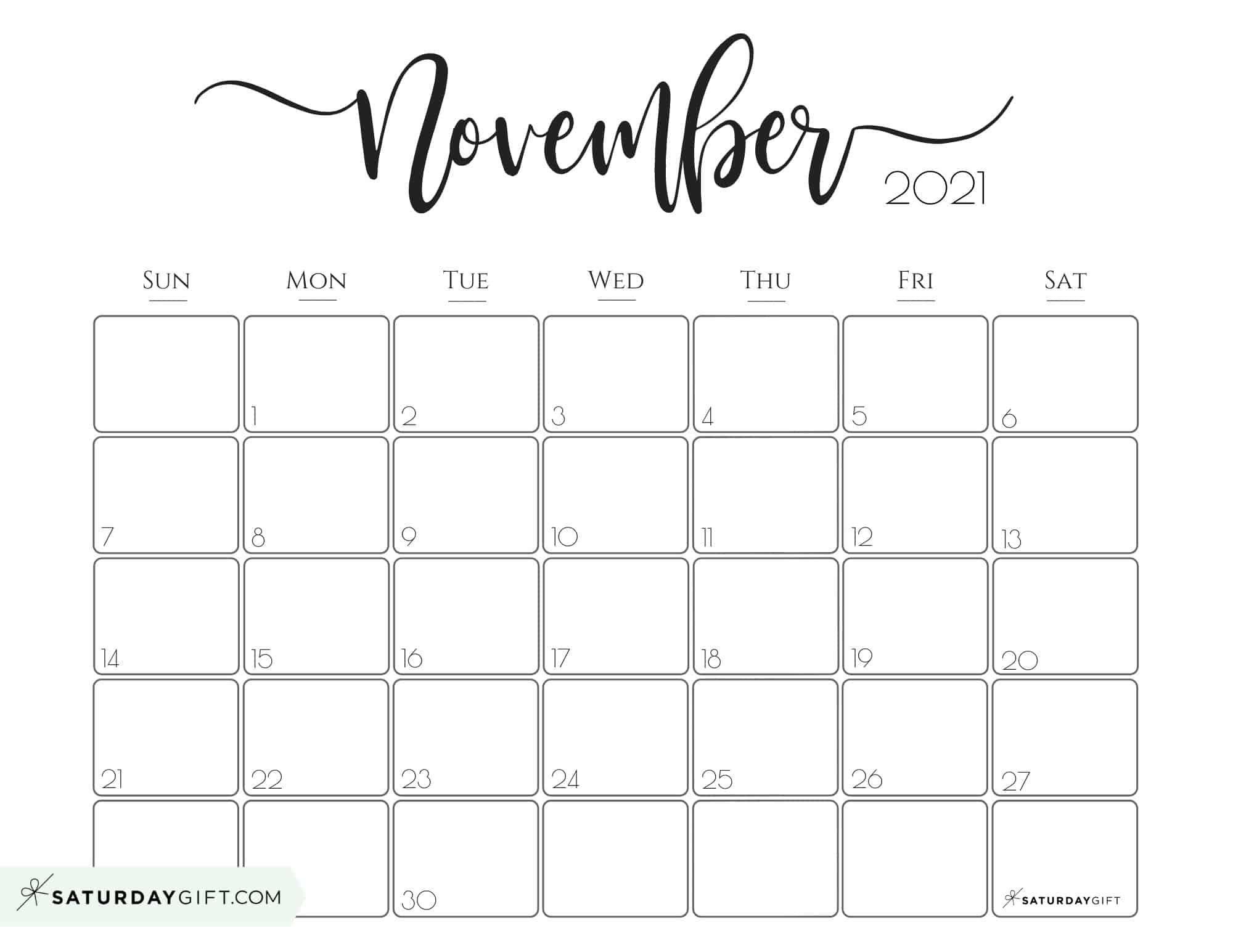 November 2021 Calendar To Print | Calendar 2021