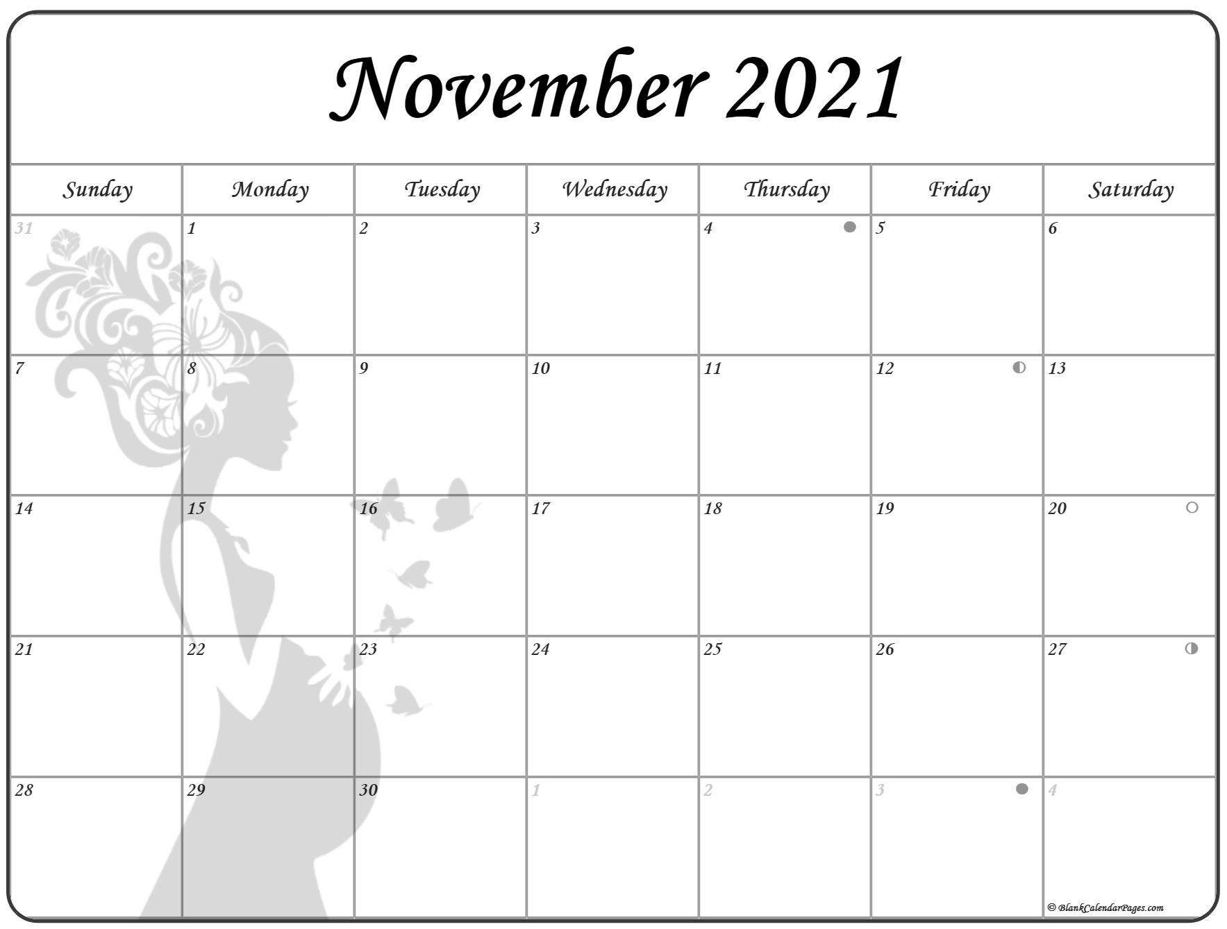 November 2021 Pregnancy Calendar | Fertility Calendar
