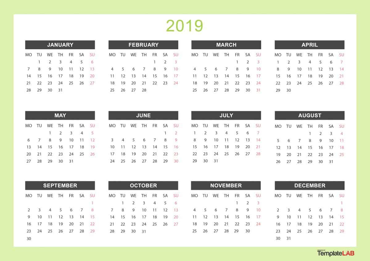 Print Yearly Calendar Free | Calendar Printables Free