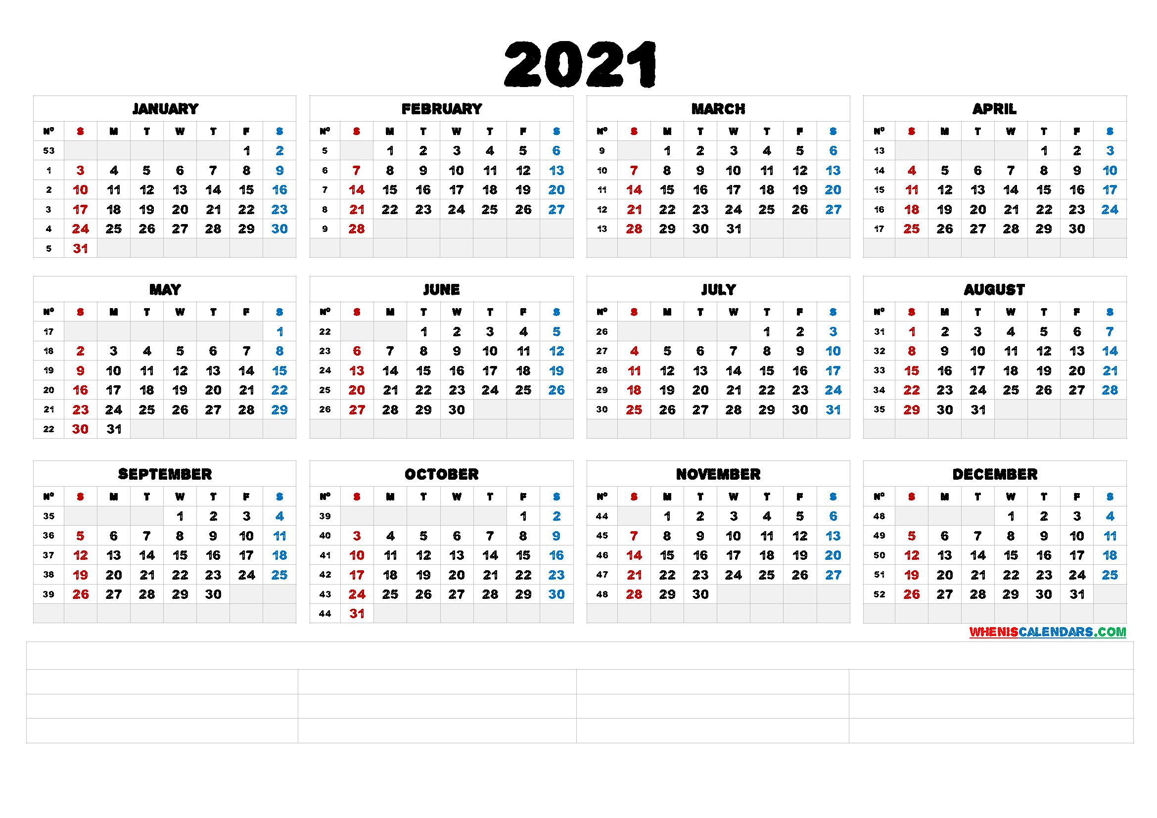Printable 58 2021 Calendar : 2021 Monthly Succulent