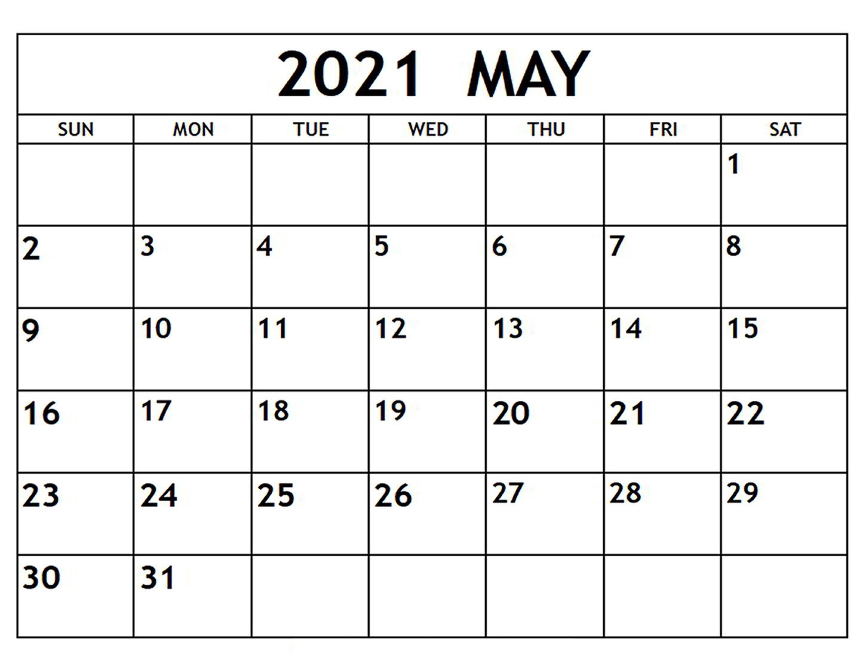 Printable May Calendar 2021 | Betacalender4U