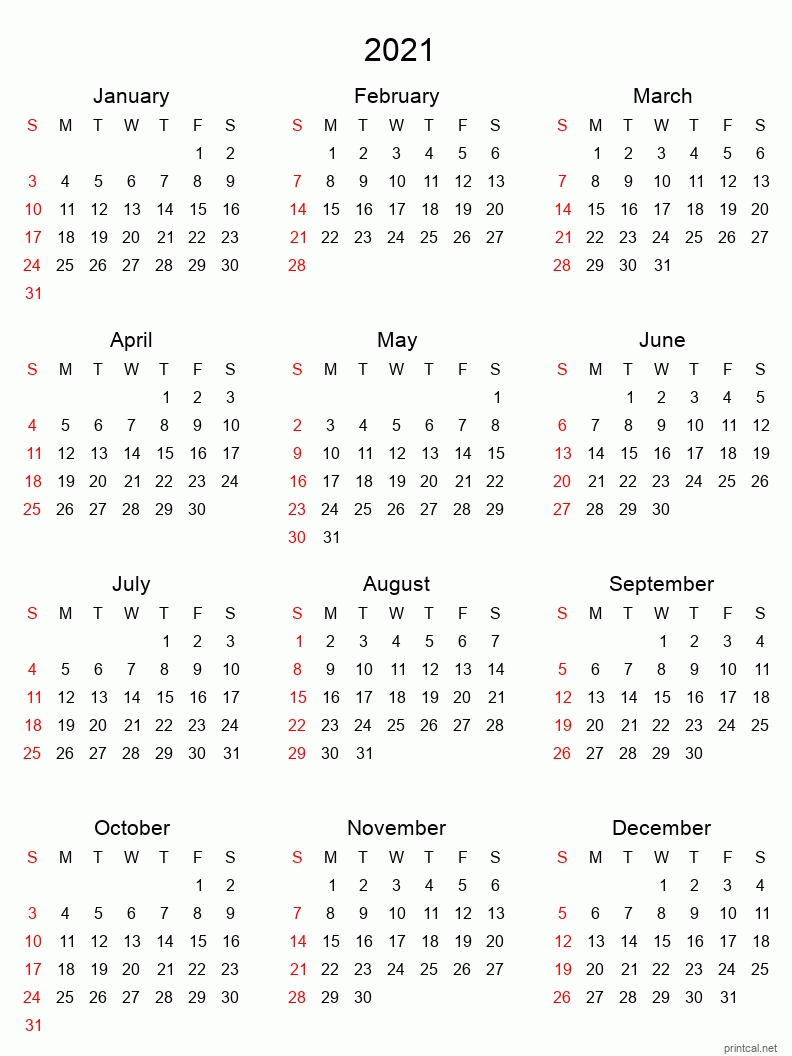 Printable One Page Calender For 6 Months July 2021 Through
