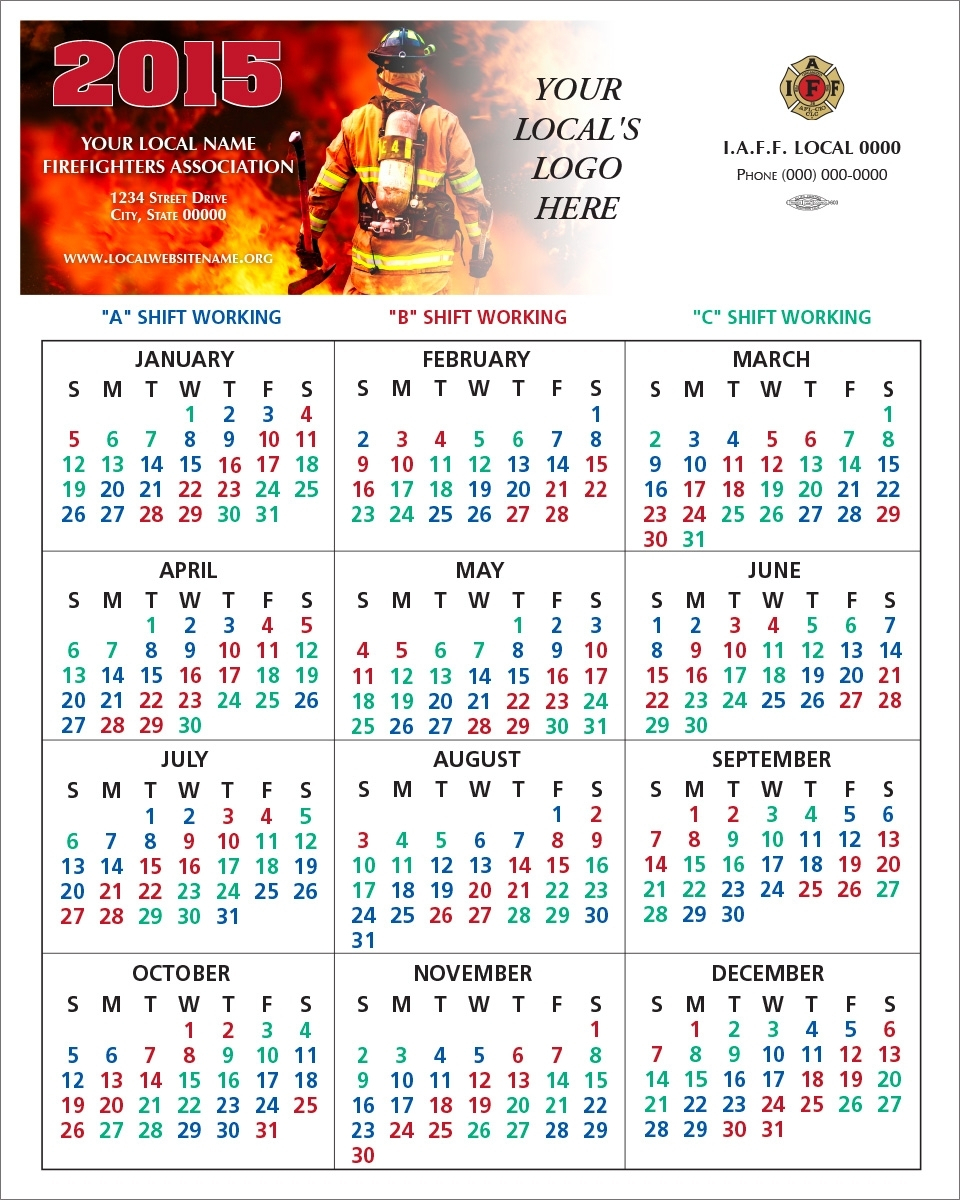 Printable Shift Calendars For Firefighters | Example
