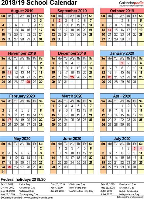 School Calendar 2020 South Africa Pdf - Calendario 2019