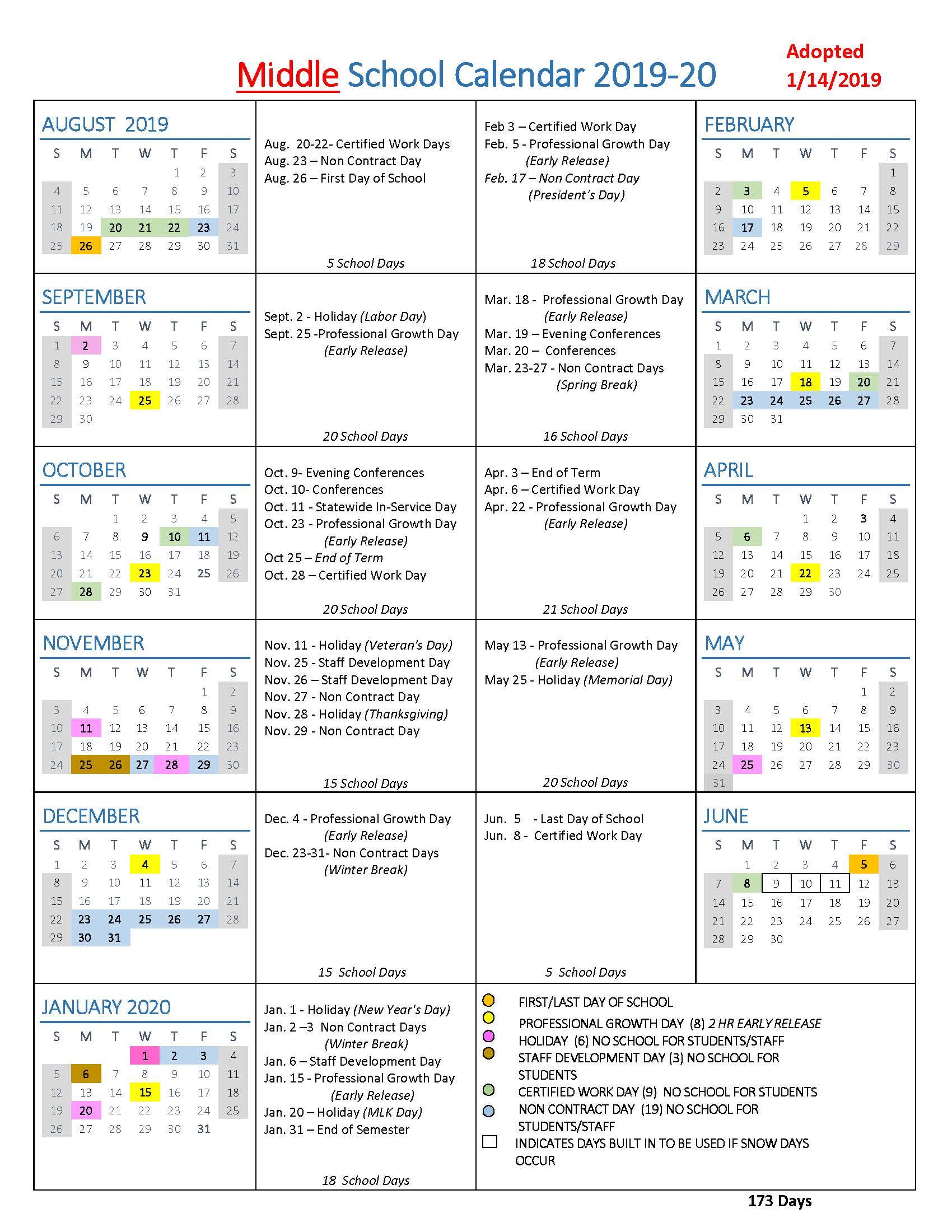Stafford County Public Schools Calendar 2020-2021   Free