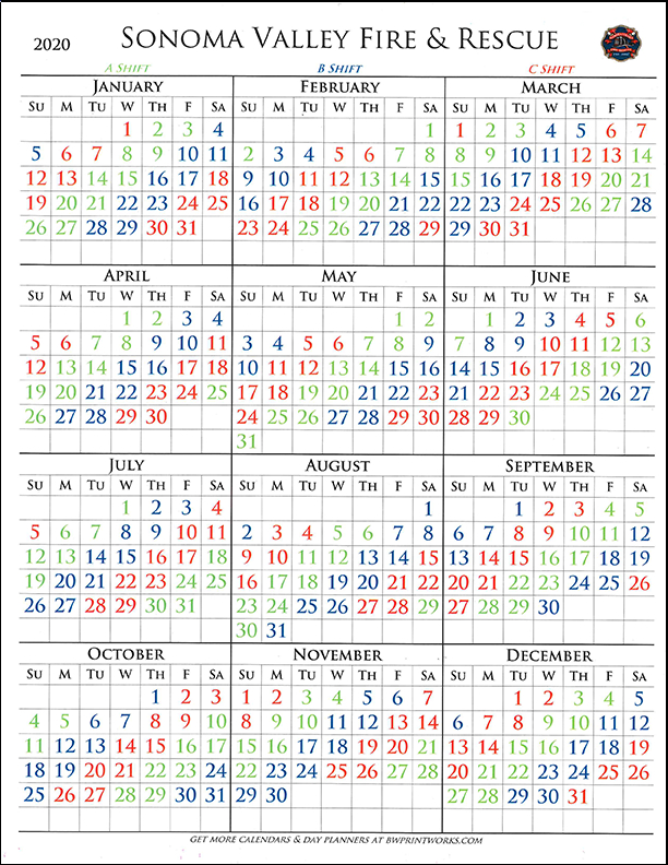 Svfra Shift Calendar