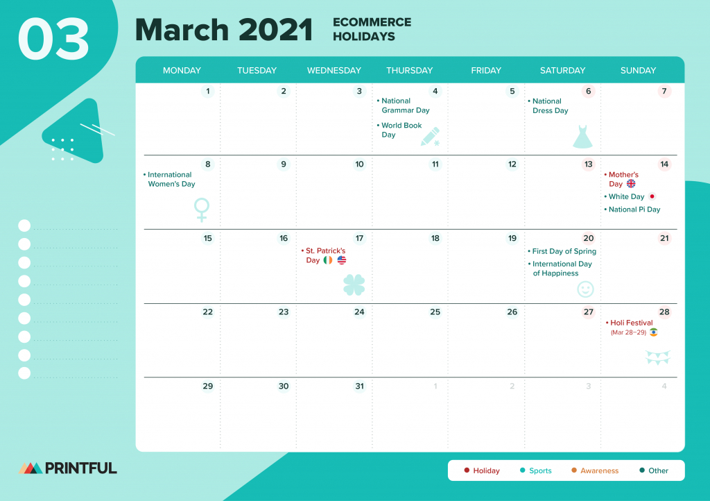 The Ultimate 2021 Ecommerce Holiday Calendar [Editable