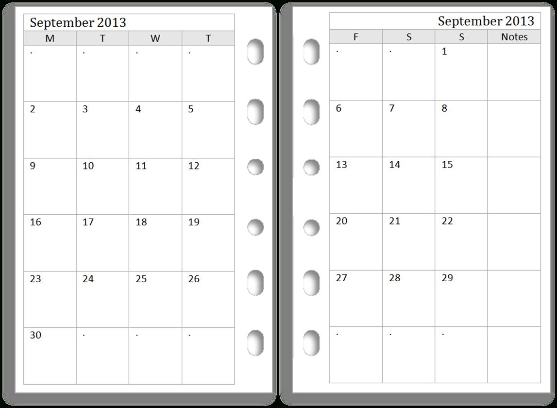 Two Paged Blank Printable Calendar | Example Calendar