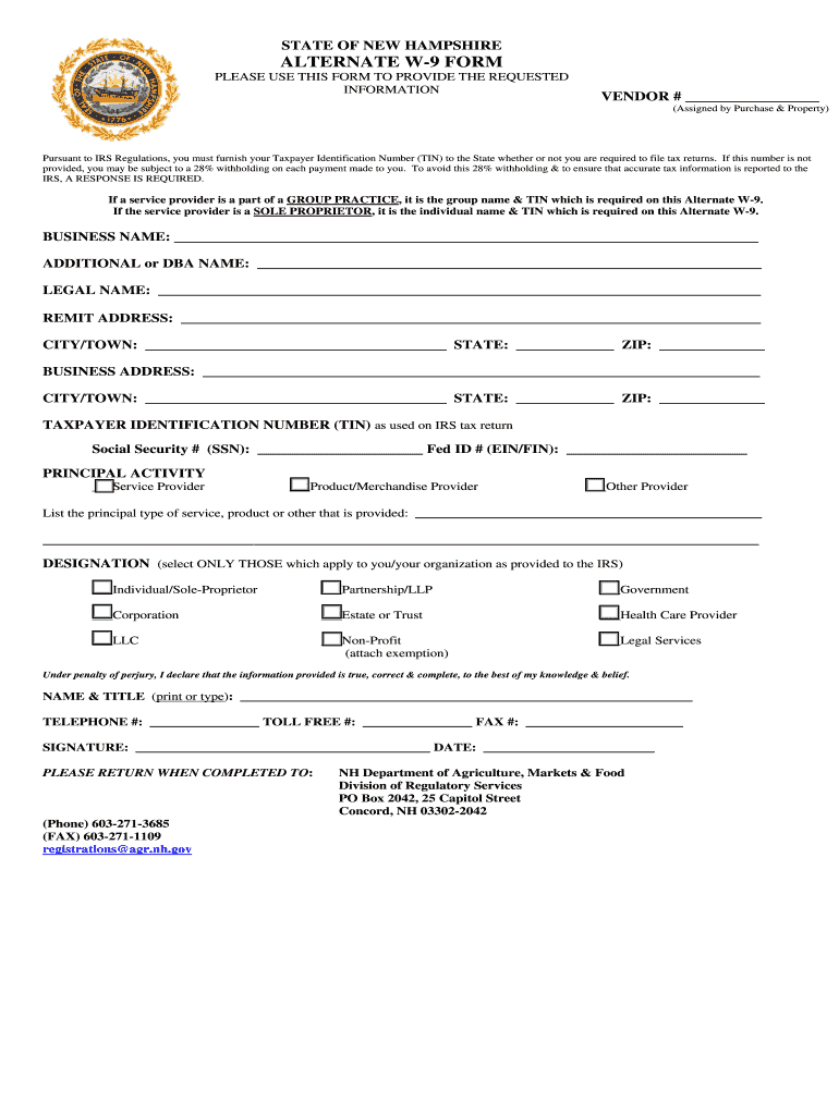 W 9 Form Nh - Fill Online, Printable, Fillable, Blank