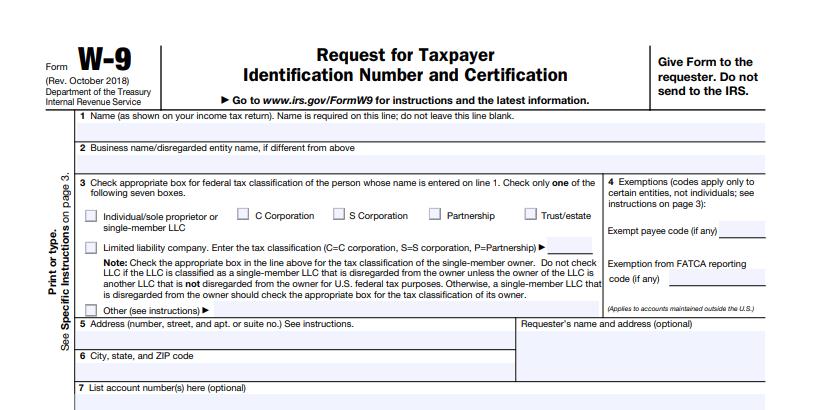 W-9 Tax Form Printable | W9 Forms 2020 Printable