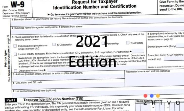 W9 Form 2021 W 9 Forms Zrivo | Printable Form 2021